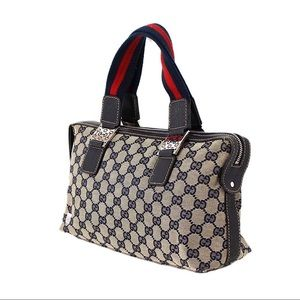 Authentic Vintage Gucci Signature Web Handbag